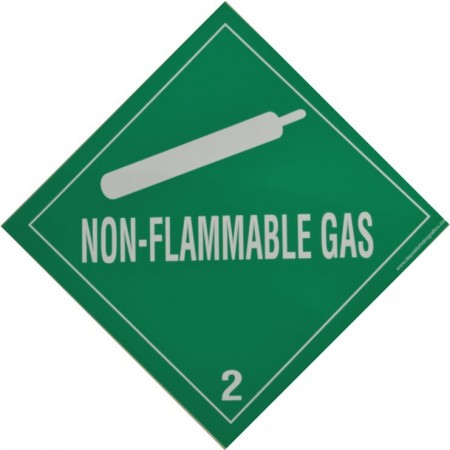 2.2  NO INFLAMABLE GAS Etiqueta adhesiva 300x300mm
