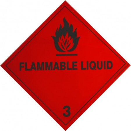 3 FLAMMABLE LIQUID Hazard Placard self-adhesive 300x300mm