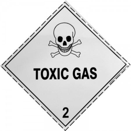 2.3 TOXIC GAS Hazard Placard