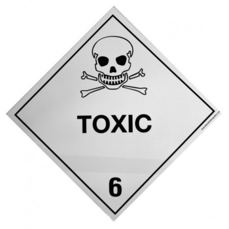 6.1 TOXIC SUBSTANCE Hazard Placard self-adhesive 300x300mm