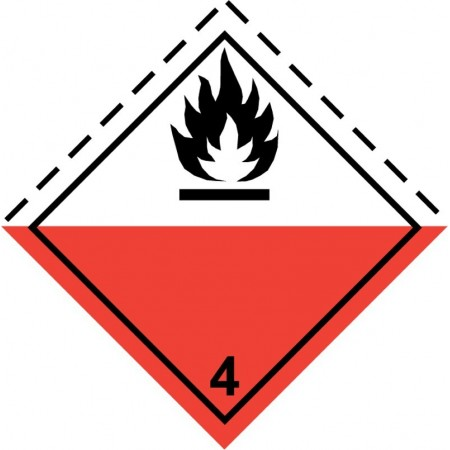 4.2 SPONTANEOUSLY COMBUST Hazard Placard self-adhesive 300x300mm