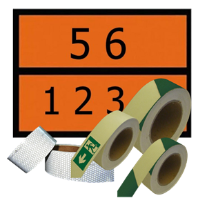 Accessories for transport of dangerous goods and hazardous containers.