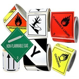 HAZARD PLACARDS 100X100 ROLL WITH 500 UNITS